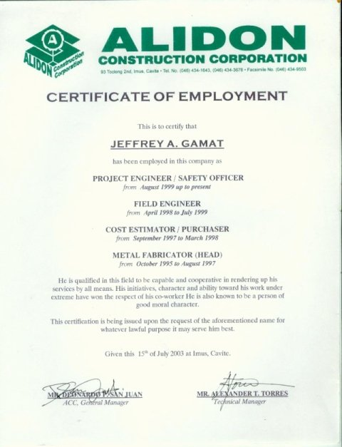 Sample Of Certificate Of Employment Luxury Sample Employment Certificate Internet Philippines