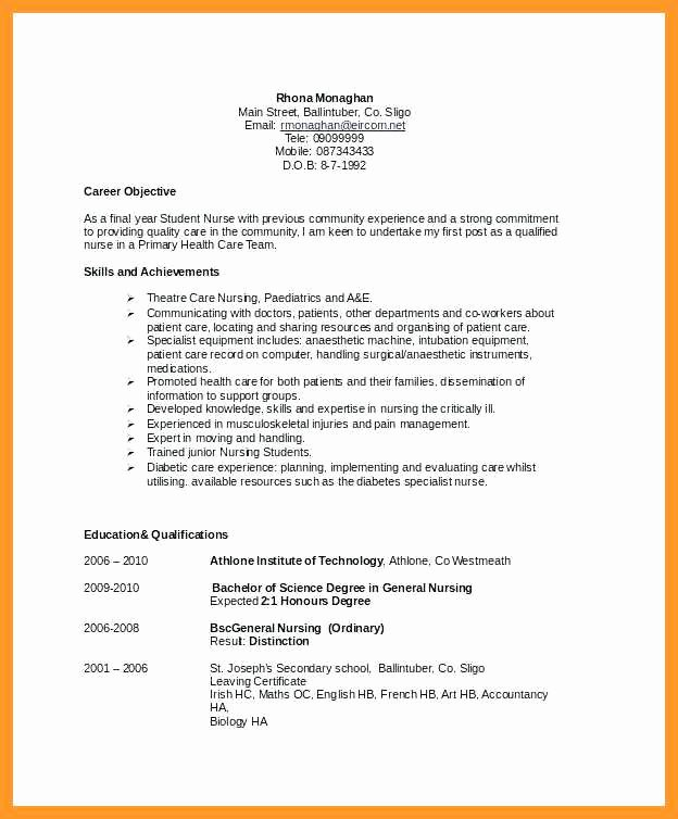 Sample Of Personal Nursing Mission Statement New 12 13 Resume with Mission Statement