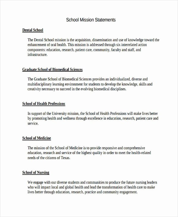 Sample Of Personal Nursing Mission Statement Unique Free 54 Mission Statement Examples & Samples In Pdf