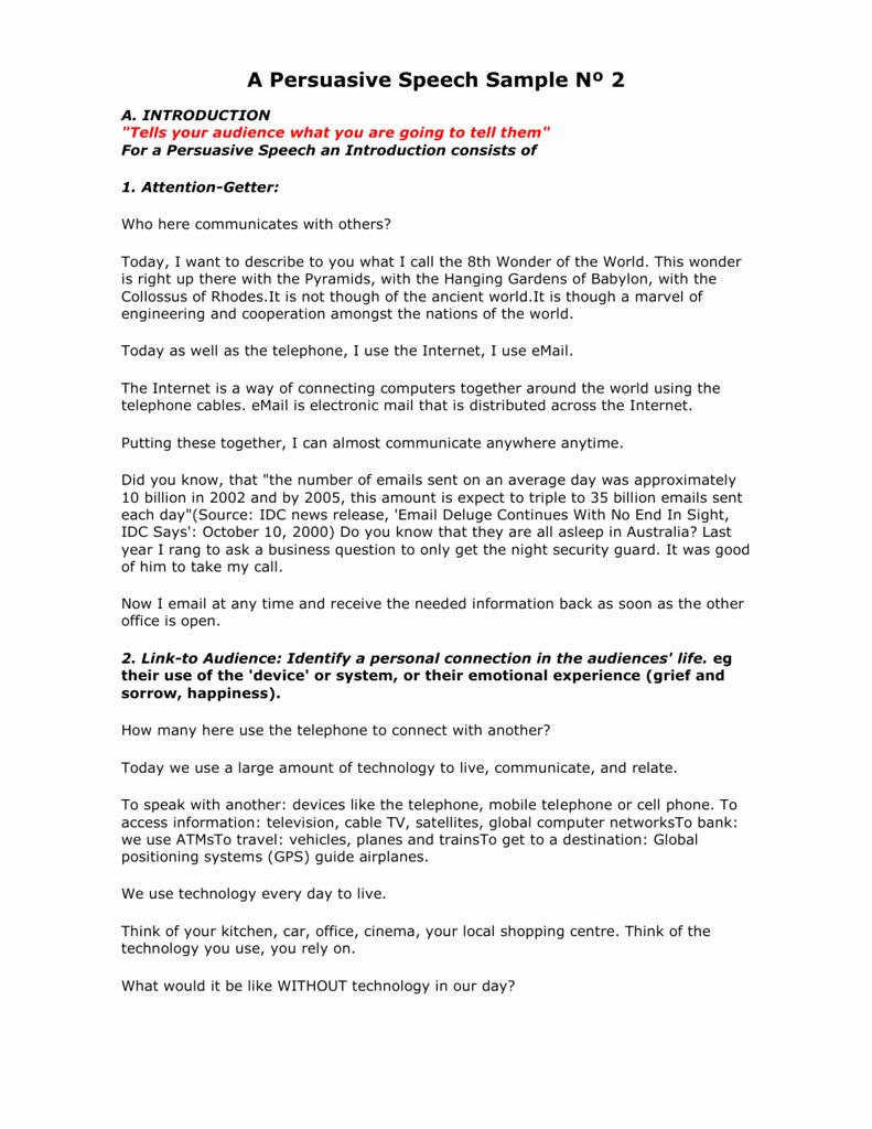 Sample Of Persuasive Speech Elegant Persuasive Speech Devices Persuasive Speech Outline 2019
