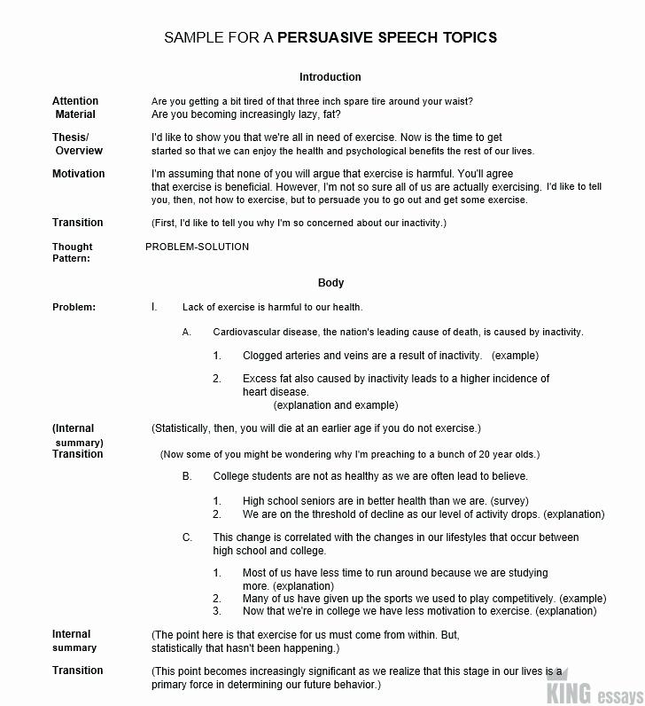 Sample Of Persuasive Speech Luxury 120 Good Persuasive Speech topics and Ideas for Students