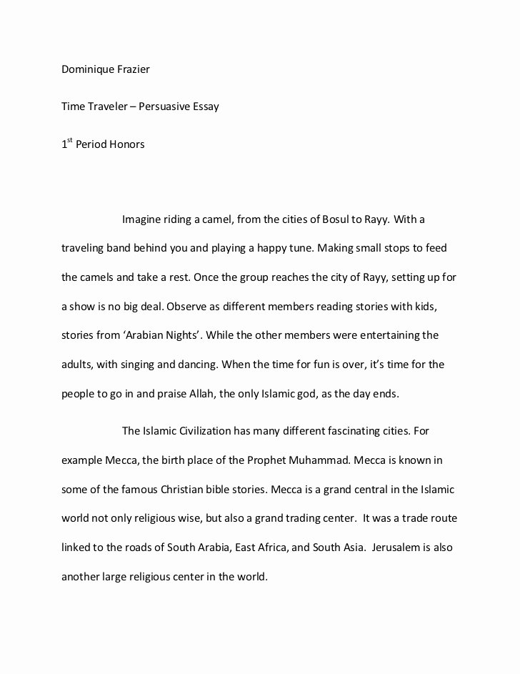 Sample Of Persuasive Speech New islamic Persuasive Essay