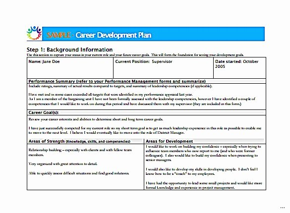 Sample Of Professional Development Plan Luxury Sample Career Development Plans – Business form Letter