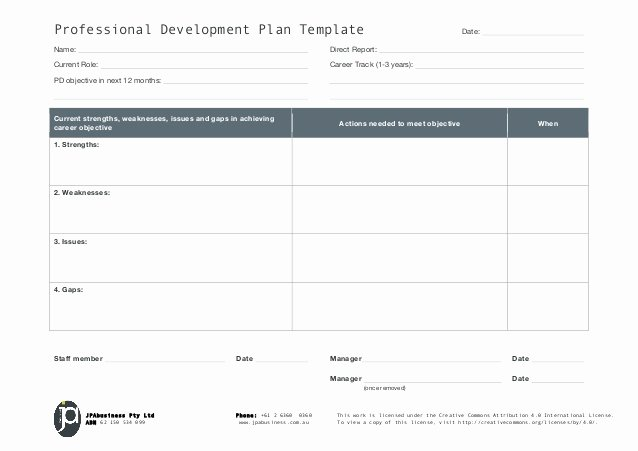 Sample Of Professional Development Plan Unique Jpabusiness Professional Development Plan Template