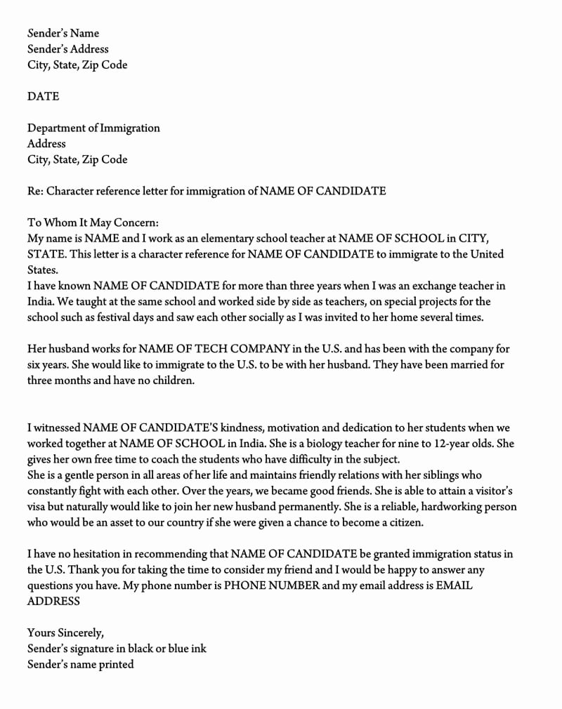 Sample Of Support Letter for Immigration Awesome Letter Of Support for Immigration 10 Sample Reference