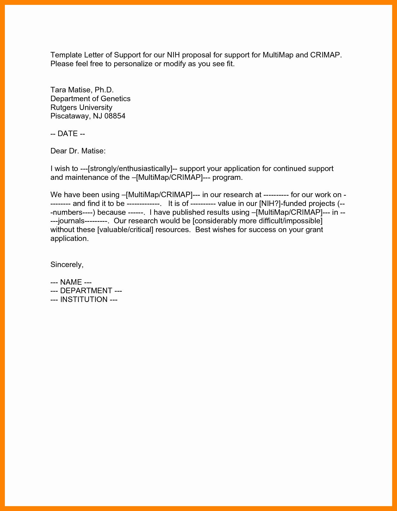 Sample Of Support Letter for Immigration Fresh Letters Support for Immigration