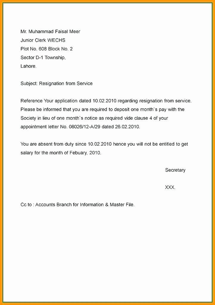 Sample Of Two Weeks Notice Letter Awesome Copy Resignation Letter