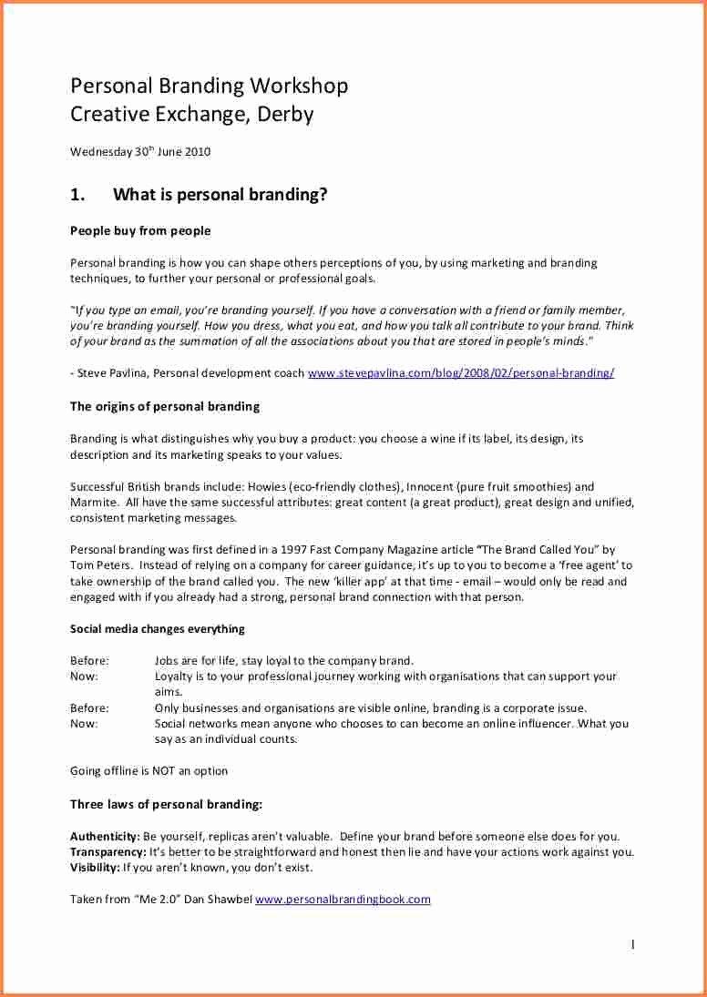 Sample Personal Brand Statements Beautiful 4 Personal Branding Statement Examples
