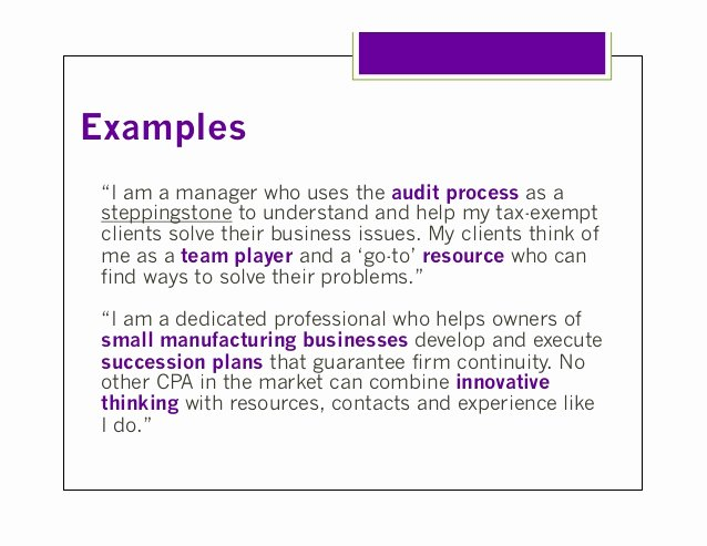 Sample Personal Brand Statements Best Of Personal Branding for Cpas