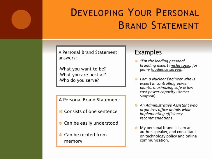 Sample Personal Brand Statements Inspirational Setting Yourself Apart From the Crowd