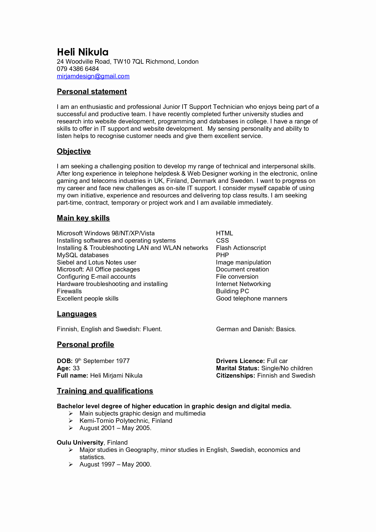 Sample Personal Branding Statements Awesome Personal Branding Statement Resume Examples