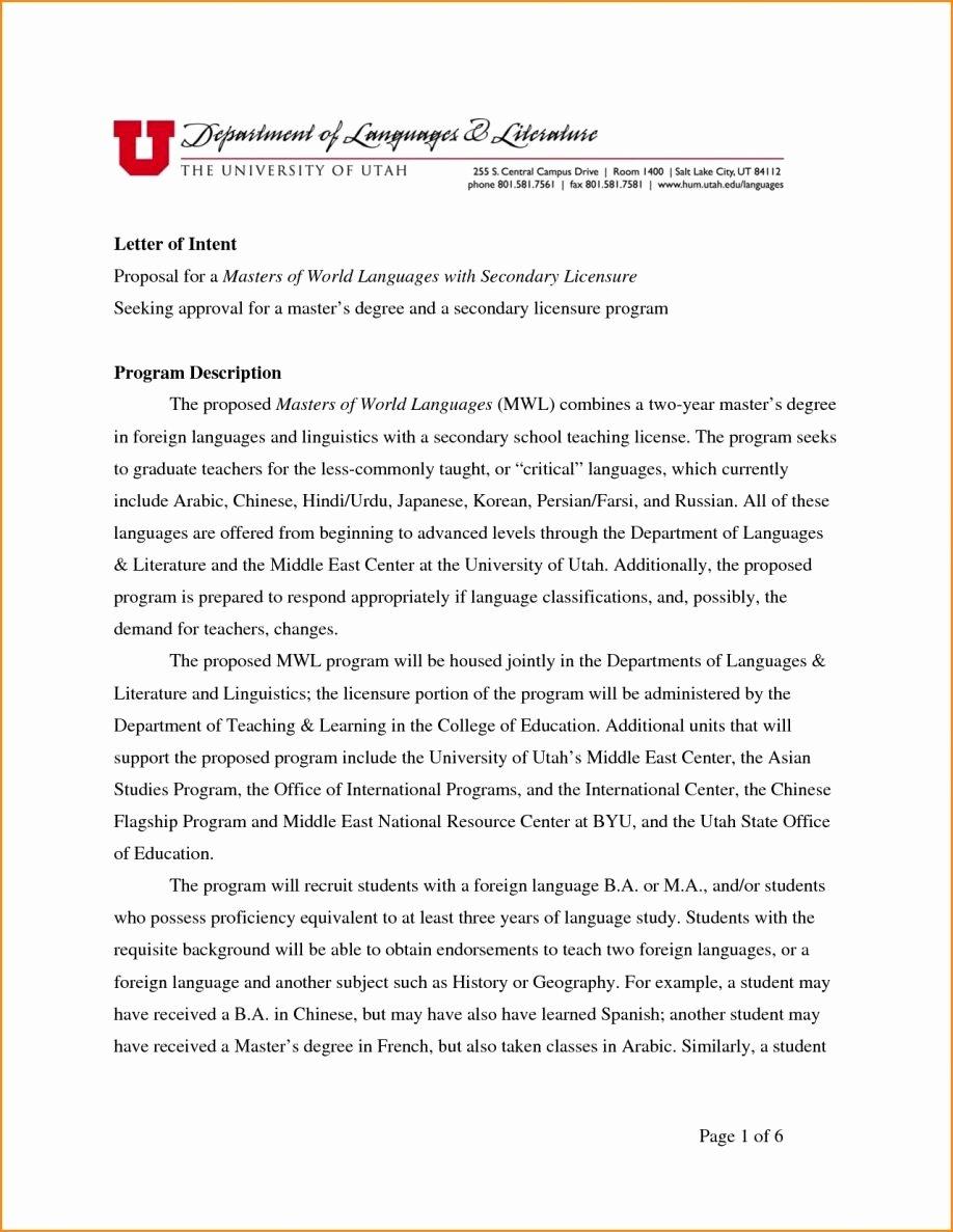 Sample Personal History Statement Graduate School Best Of Statement Purpose format Graduate School Interest
