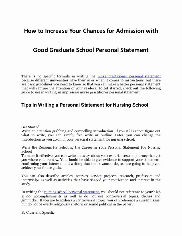 Sample Personal History Statement Graduate School Best Of Tips In Increasing Your Chances for Admission with An