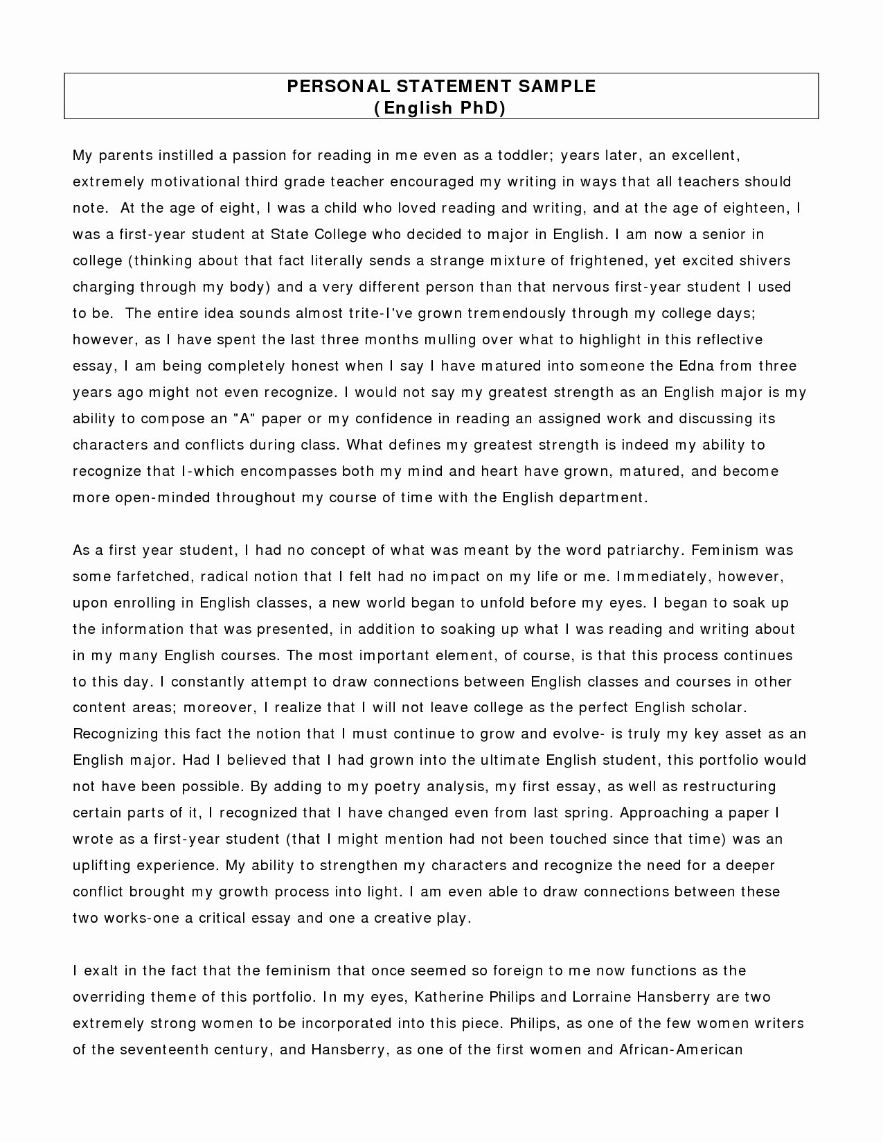 Sample Personal History Statement Graduate School Fresh Difference Between Private and Public Schools Essay why