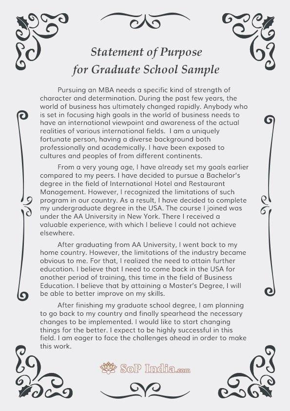 Sample Personal History Statement Graduate School Fresh Statement Of Purpose for Graduate School Sample