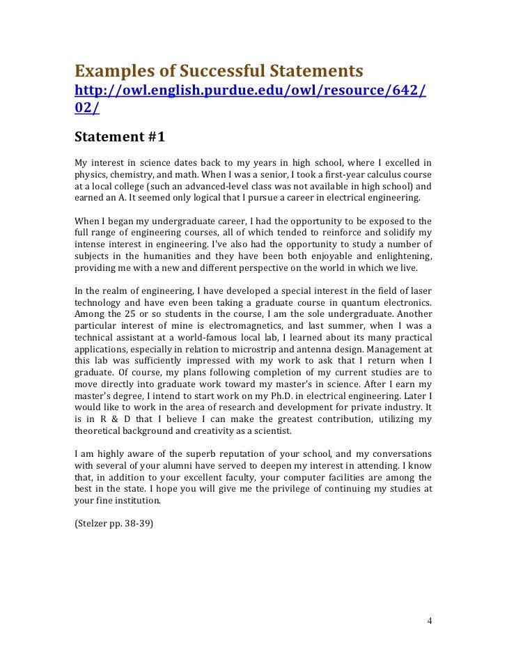 Sample Personal History Statement Graduate School Unique Undergraduate Personal Statement