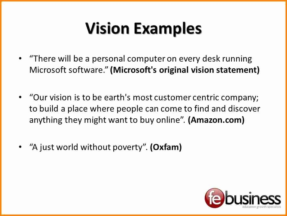Sample Personal Vision Statement New 9 Examples Personal Vision Statements