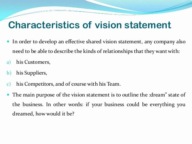 Sample Personal Vision Statements Beautiful Vision Mission Strategy Examples Google Zoeken