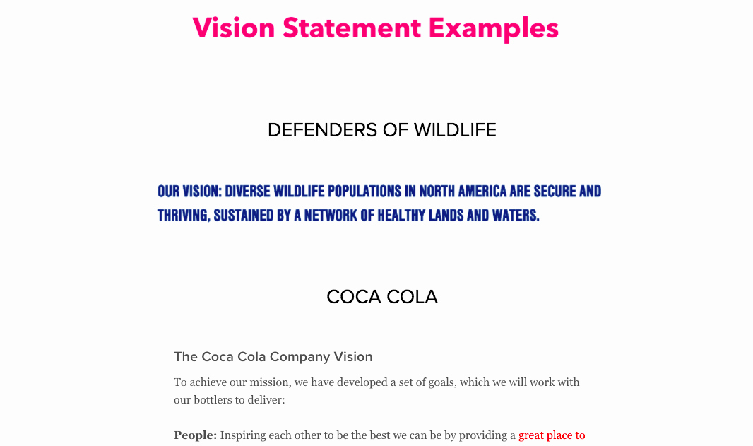 Sample Personal Vision Statements New Download the Guide How to Define Inspiring Mission
