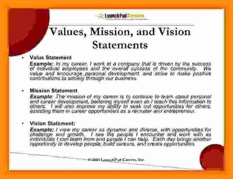 Sample Personal Vision Statements Unique How to Write My Personal Vision Statement Creating or