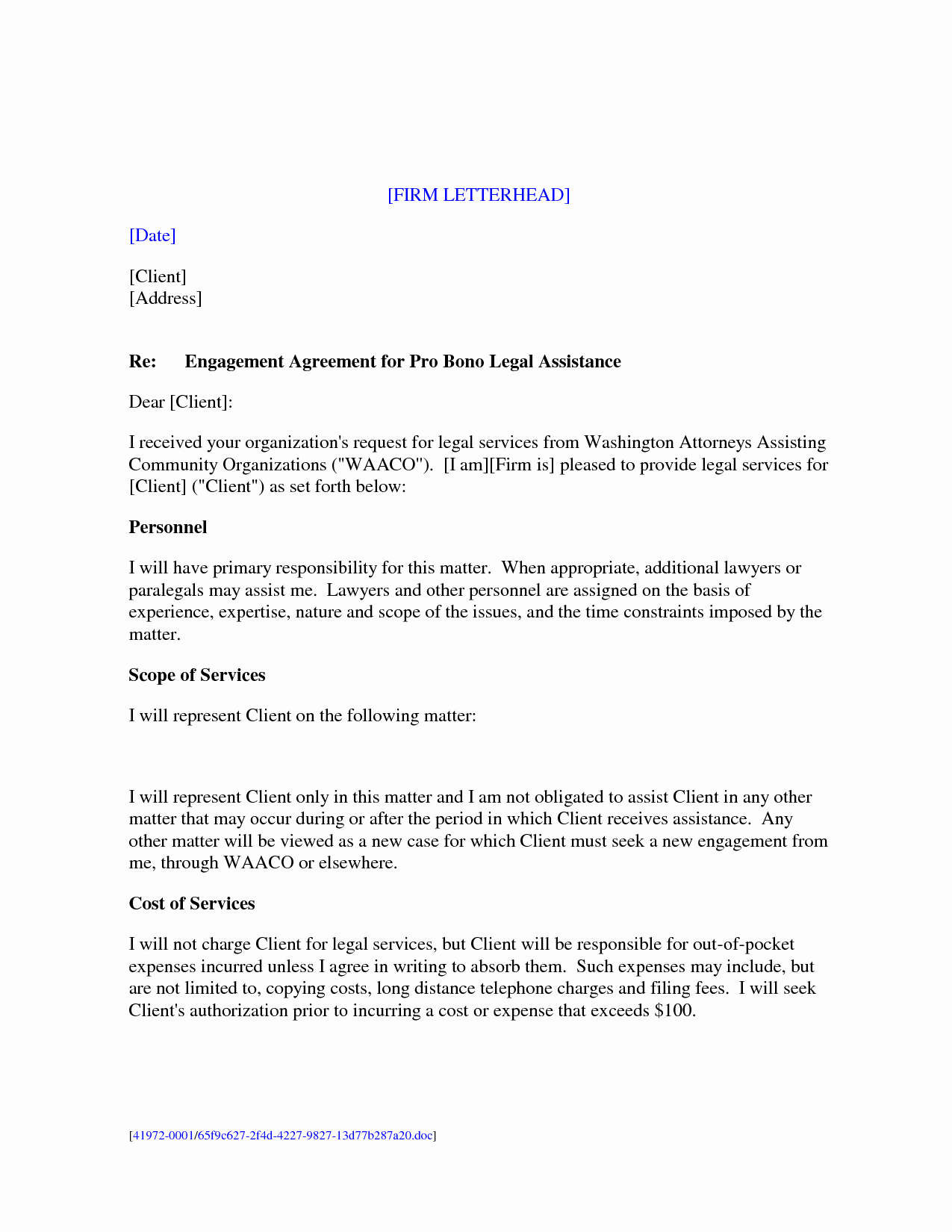 Sample Representation Letter New Sample Legal Representation Letter Wemaketotem