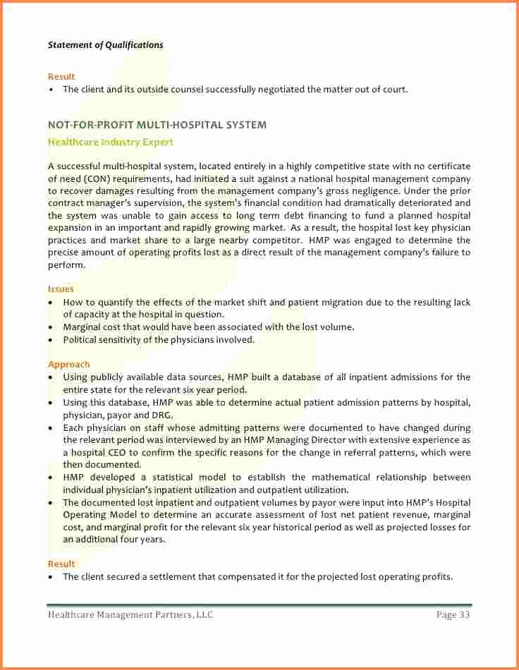 Sample Statement Of Qualification Beautiful 10 Sample Statement Of Qualifications