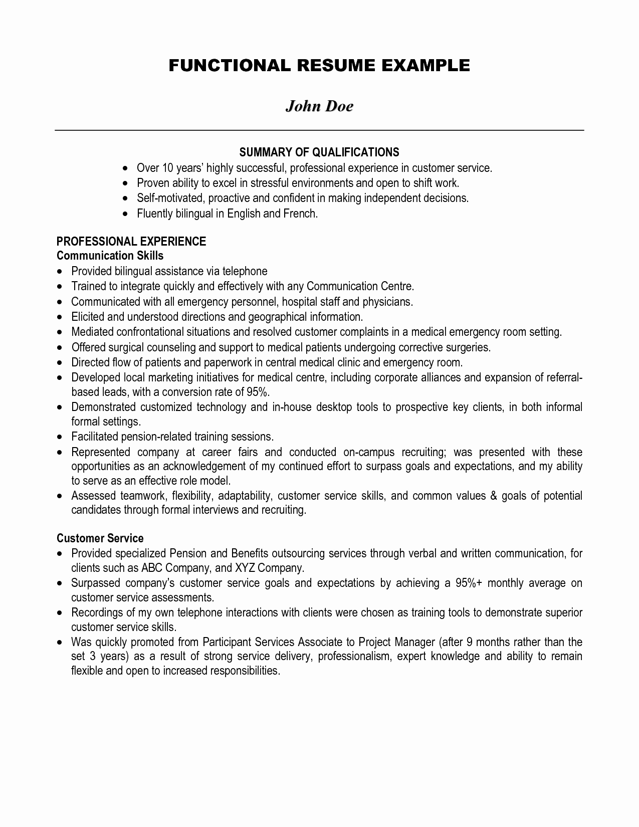 Sample Statement Of Qualification Fresh Best Summary Of Qualifications Resume for 2016
