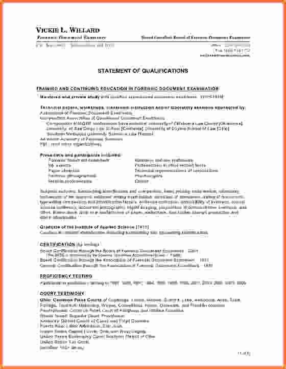 Sample Statement Of Qualification Fresh Index Of Cdn 29 1993 546