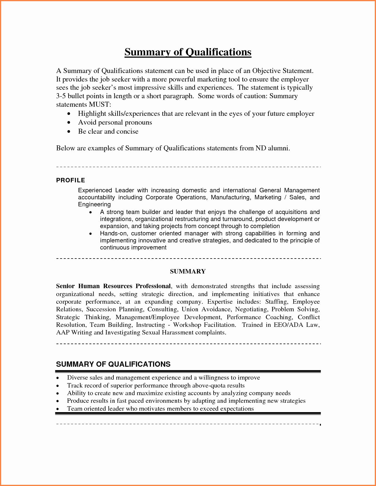 Sample Statement Of Qualification Inspirational 10 Statement Of Qualification