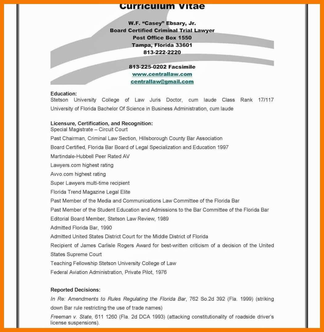 Sample Statement Of Qualification New 7 8 Personal Qualifications Statement Sample