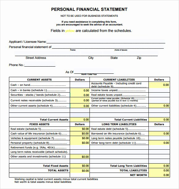 Sample Summary Statements Luxury Sample Financial Summary 7 Documents In Pdf