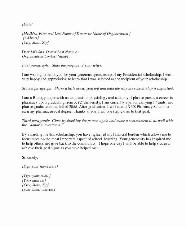 Sample Thank You Letter for Sponsorship Inspirational 10 Sample Sponsorship Thank You Letter Free Sample