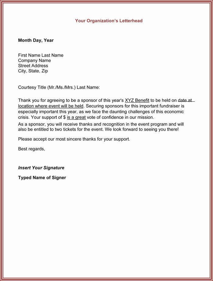 Sample Thank You Letter for Sponsorship Luxury Thank You for Your Support Letter 5 Best Samples