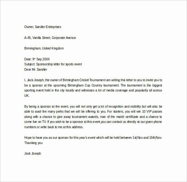 Sample Thank You Letter for Sponsorship New 27 Sample Sponsor Thank You Letters Pdf Word