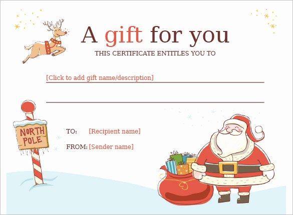 Santa Gift Certificate Template Unique 20 Christmas Gift Certificate Templates Word Pdf Psd
