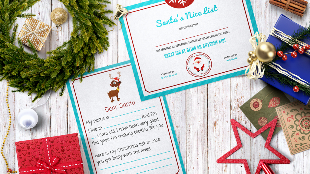 "Santa's Nice List Certificate Template Awesome Free Letter to Santa Template with ""nice List"" Certificate"