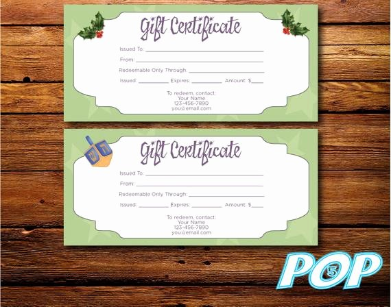 Scentsy Gift Certificate Template Beautiful Items Similar to Personalized Digital File Holiday Gift