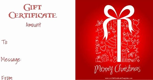 Scentsy Gift Certificate Template Elegant Christmas Gift Certificate Templates that Can Be