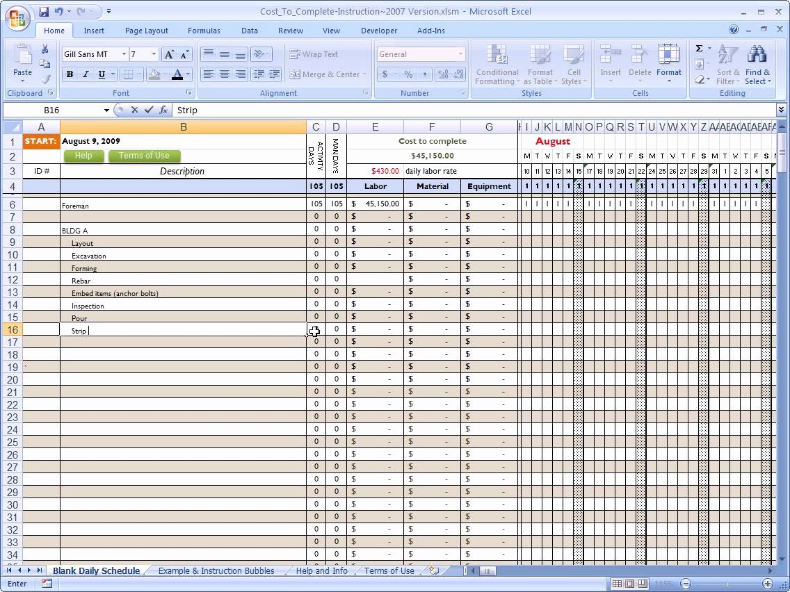 Schedule Of Values Construction Example Awesome Schedule Values Spreadsheet