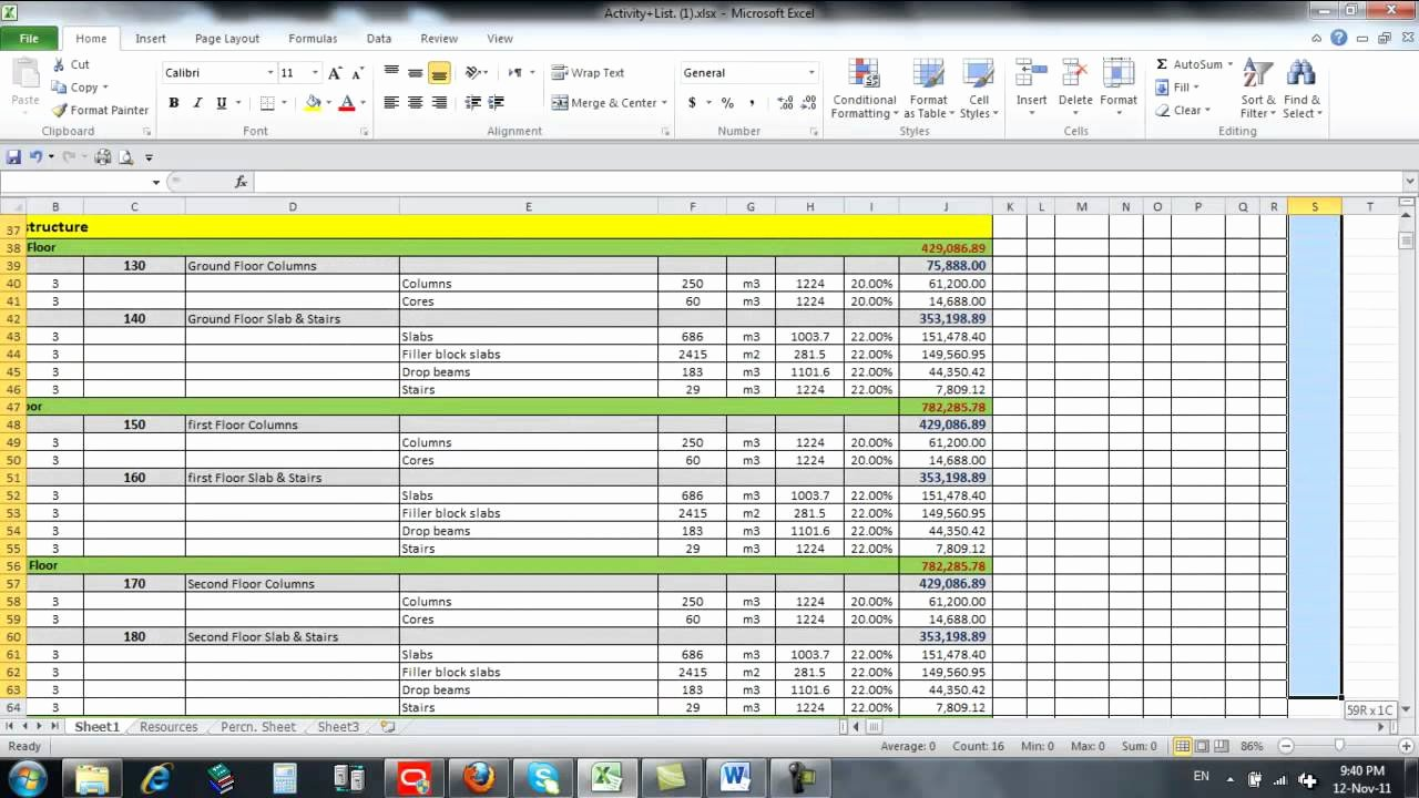 Schedule Of Values Construction Example Fresh Schedule Values Template