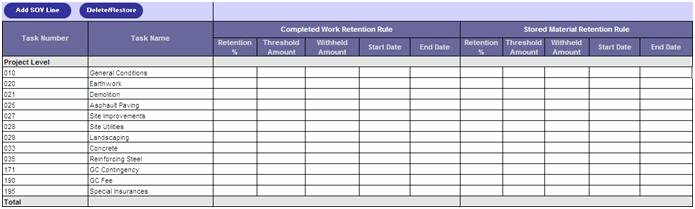 Schedule Of Values Construction Example Unique Aia Pliant Progress Billing software for oracle E
