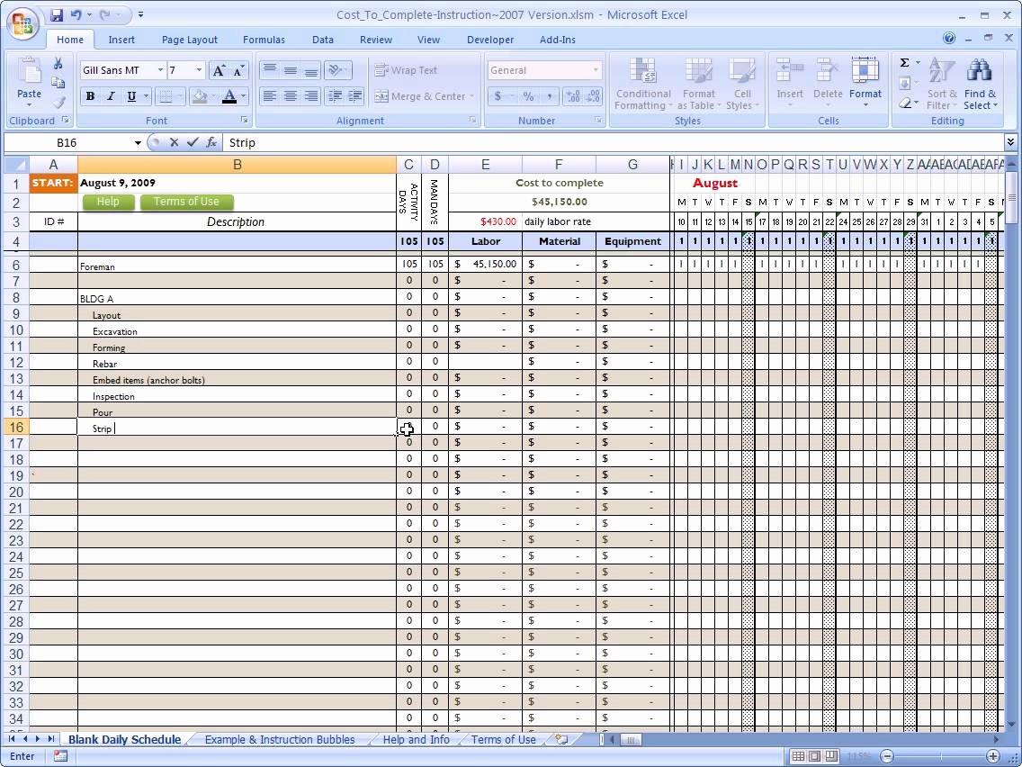 Schedule Of Values Construction Template Unique Schedule Values Spreadsheet