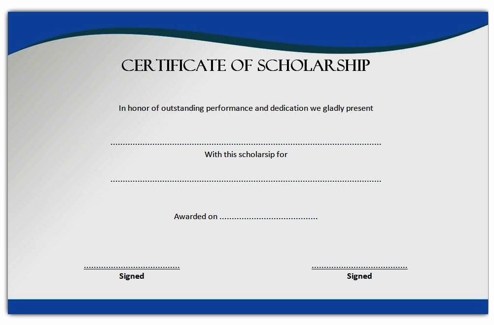 Scholarship Award Certificate Template Beautiful 10 Scholarship Award Certificate Examples Pdf Psd Ai