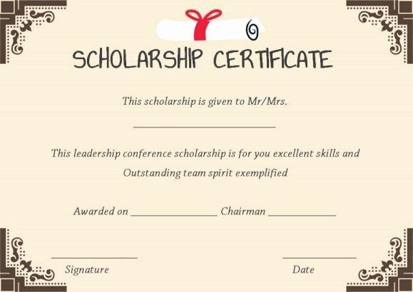 Scholarship Award Certificate Template Beautiful 11 Best Scholarship Certificate Template Images On