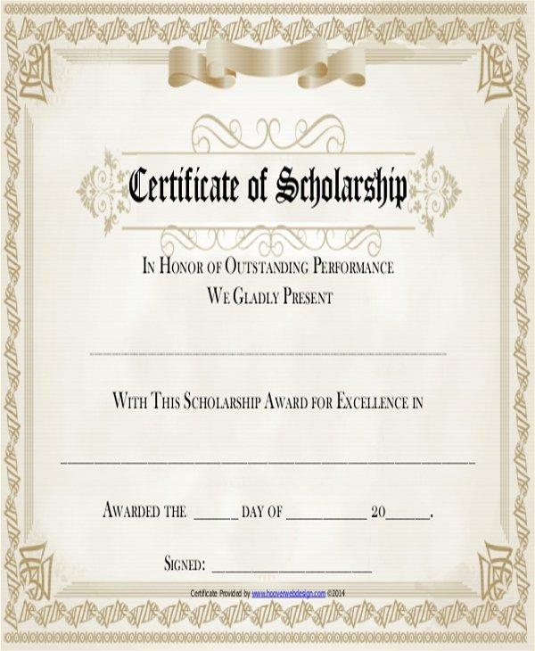 Scholarship Award Certificate Template Inspirational 19 Sample Award Certificates Word Psd Ai Eps Vector