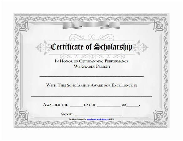 Scholarship Award Certificate Template Lovely Microsoft Templates – 18 Free Word Excel Ppt Pub