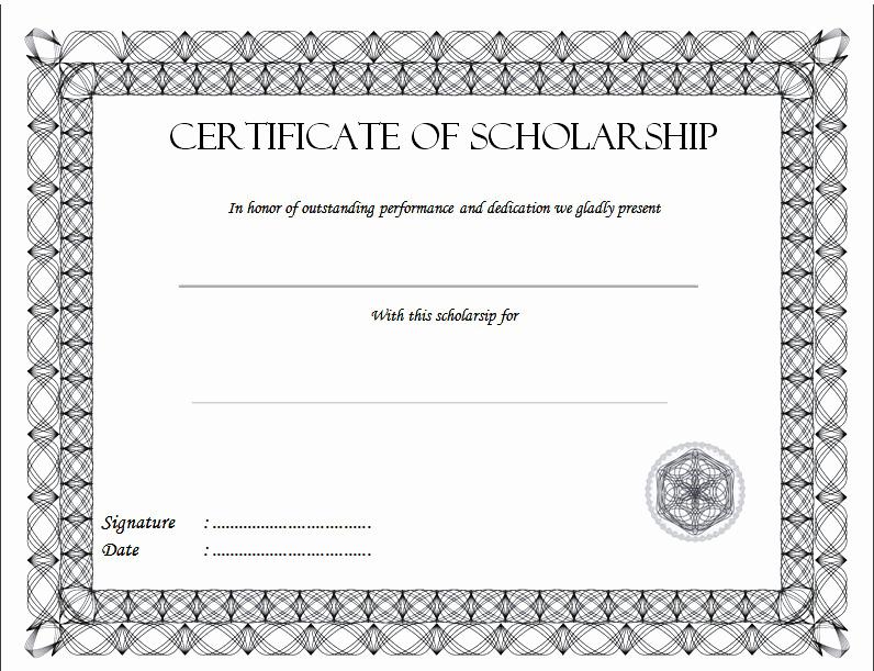 Scholarship Award Certificate Template Luxury Scholarship Certificate Template top 10 Greatest Ideas