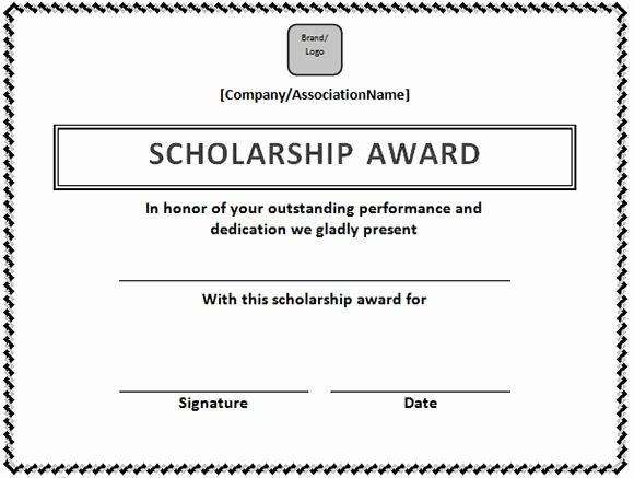 Scholarship Award Certificate Template Unique Scholarship Certificate Template In Word format