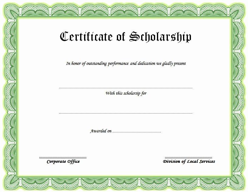 Scholarship Award Certificate Templates Awesome 10 Scholarship Award Certificate Examples Pdf Psd Ai