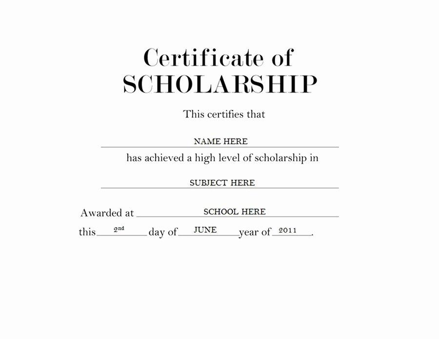 Scholarship Award Certificate Templates Best Of Certificate Of Scholarship Free Templates Clip Art